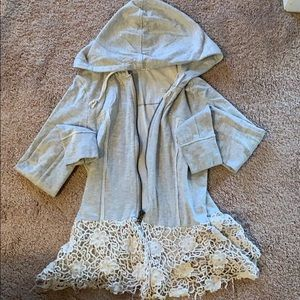 Mystree Hoodie with lace bottom